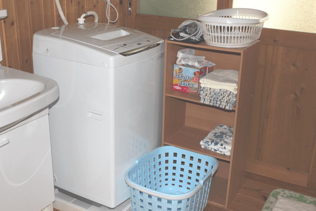 宮古島の郊外型エコハウス-洗濯機