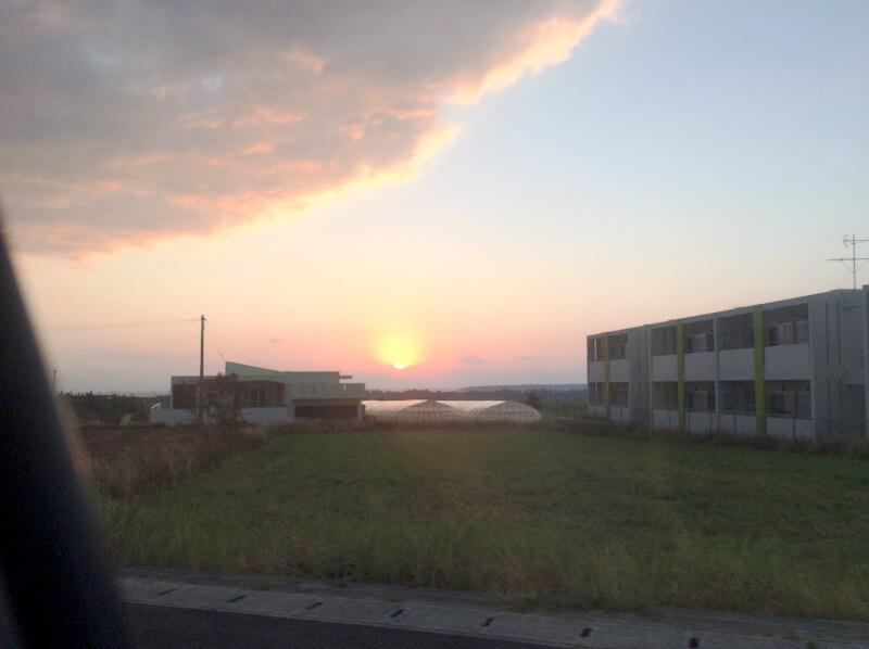 宮古島の日常風景写真-夕日