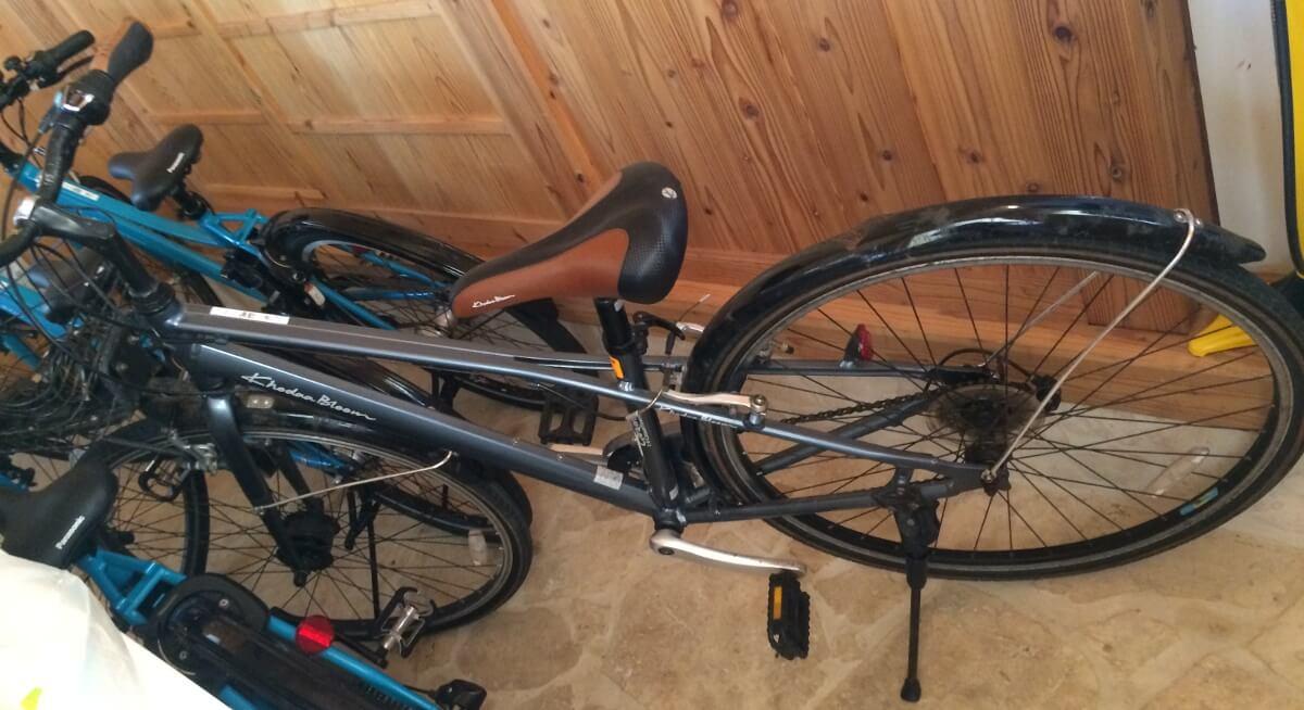 宮古島エコハウスに自転車が増えてました