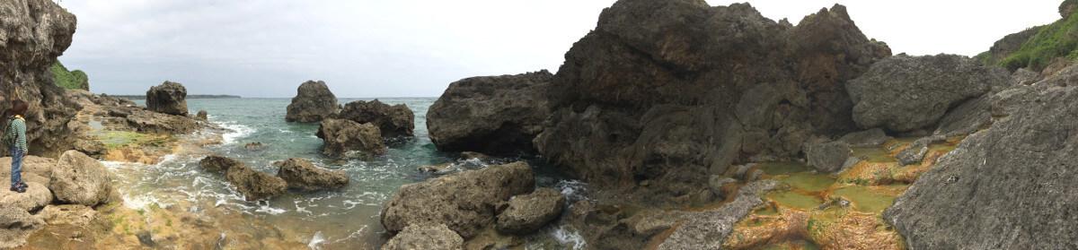 いよいよDEEP宮古島「石灰華段」へ