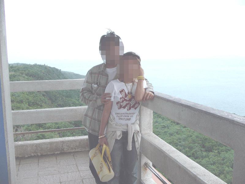 来間島の竜宮城展望台へ行ってきました!!と言ういかにもな記念写真