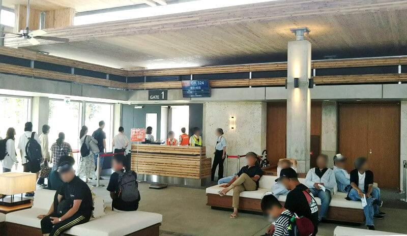 下地島空港の出発ゲート