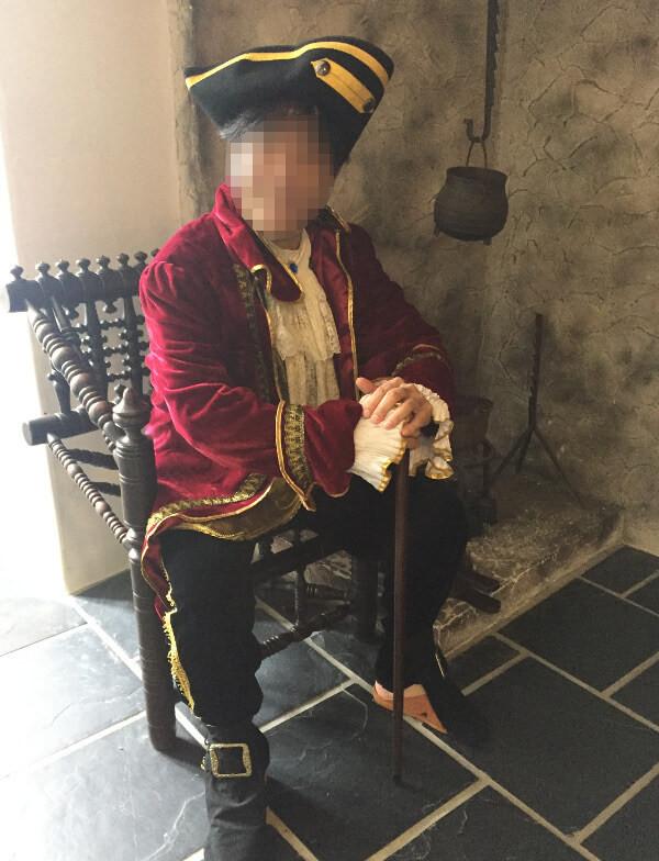 貴族というより海賊っぽい衣装