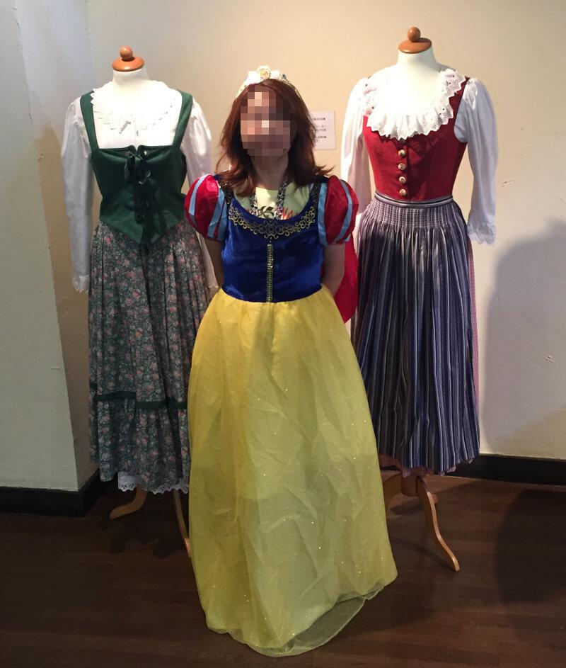 ドイツの衣装というか白雪姫?