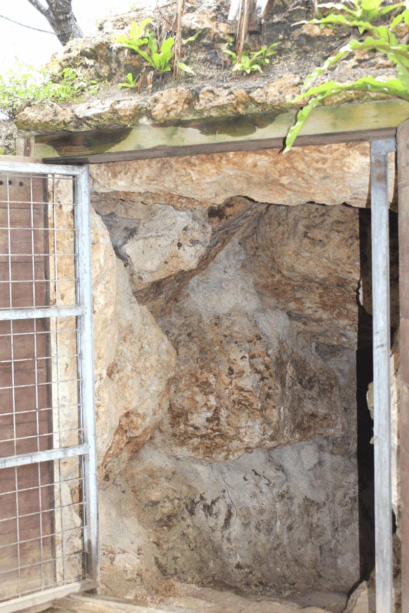 宮古島へ行くなら、宮古島のお酒・泡盛の蔵本「多良川」を見学してみよう!〜多良川・貯蔵庫の扉を開けたところ