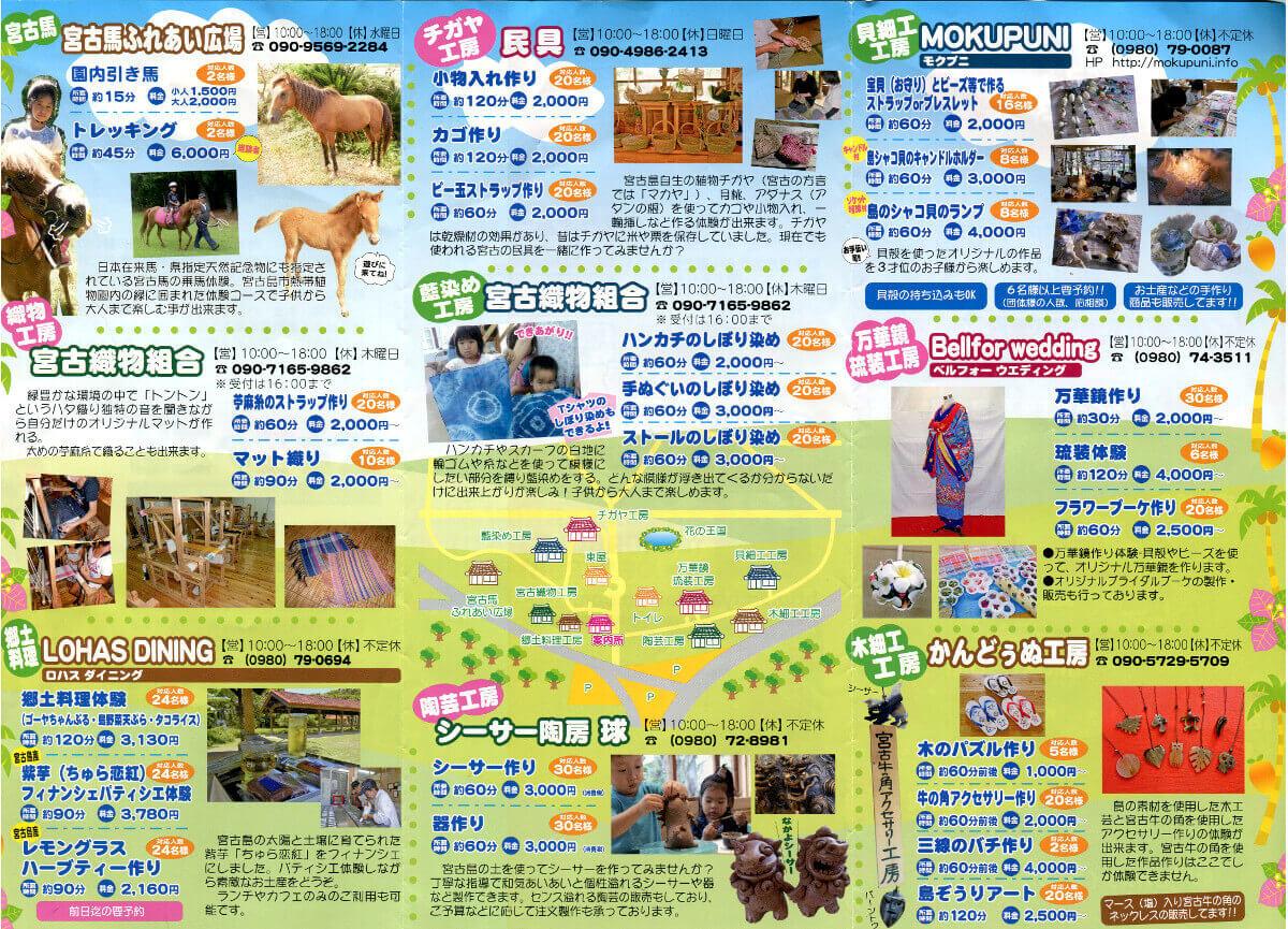 宮古島伝統工芸村のMAP