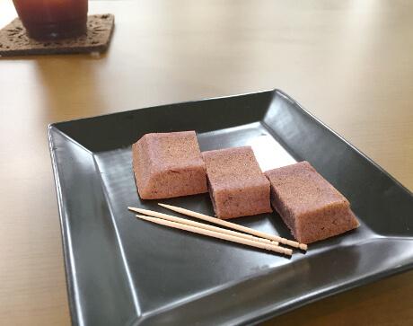 宮古島の紫芋を使ったフィナンシェ