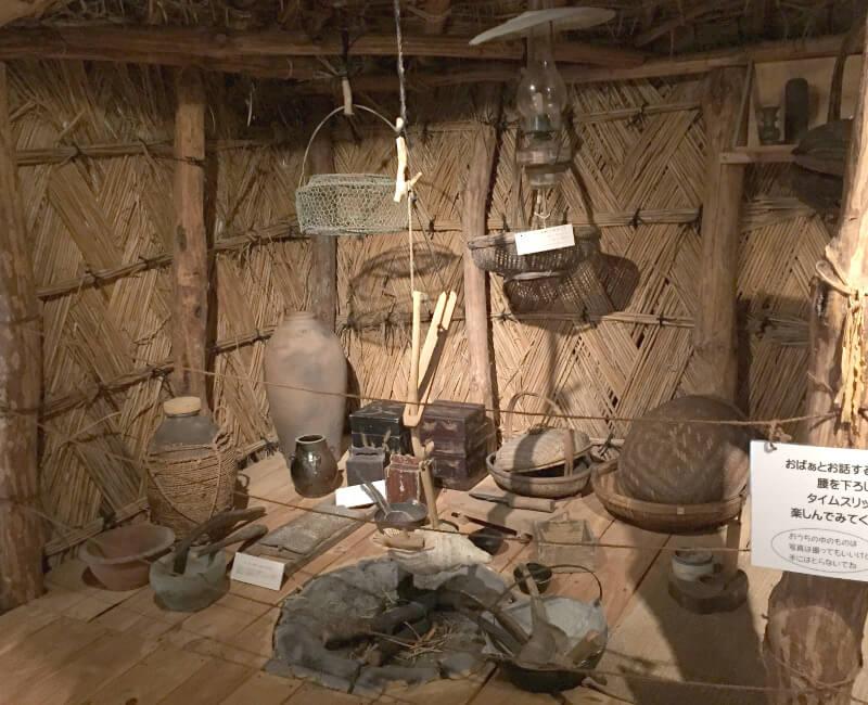 昔の宮古島のおうちのいろりまわり
