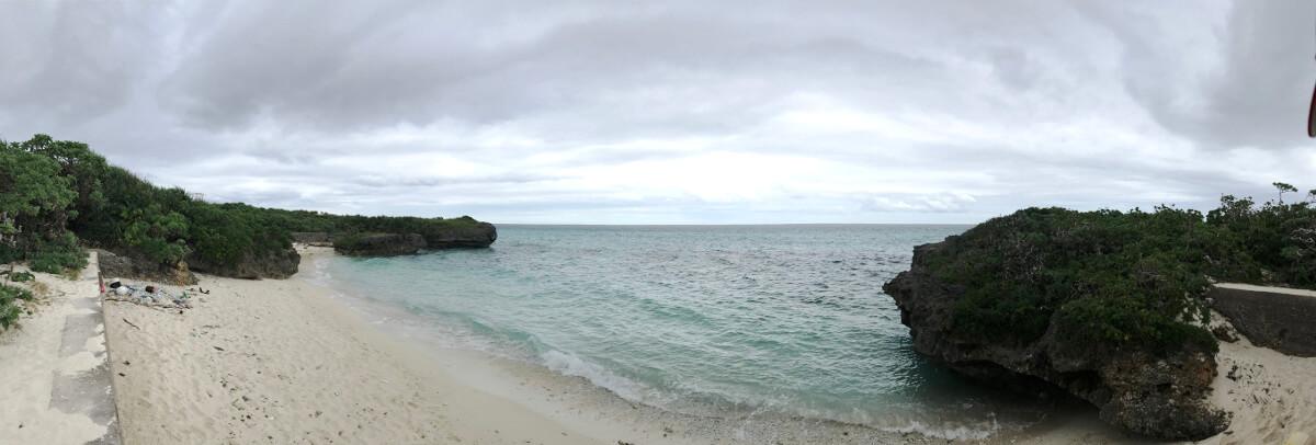 宮古島の観光スポット、池間ブロックの海岸