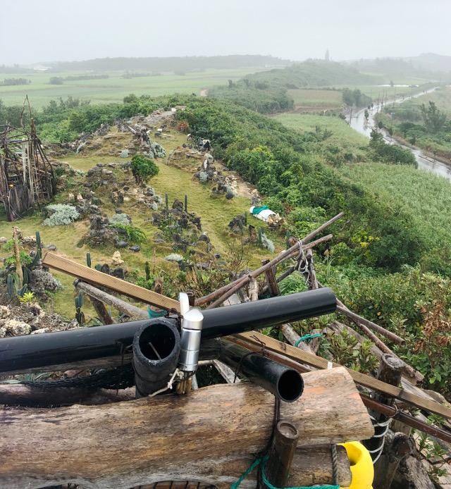 宮古島の天海山石庭にある小屋