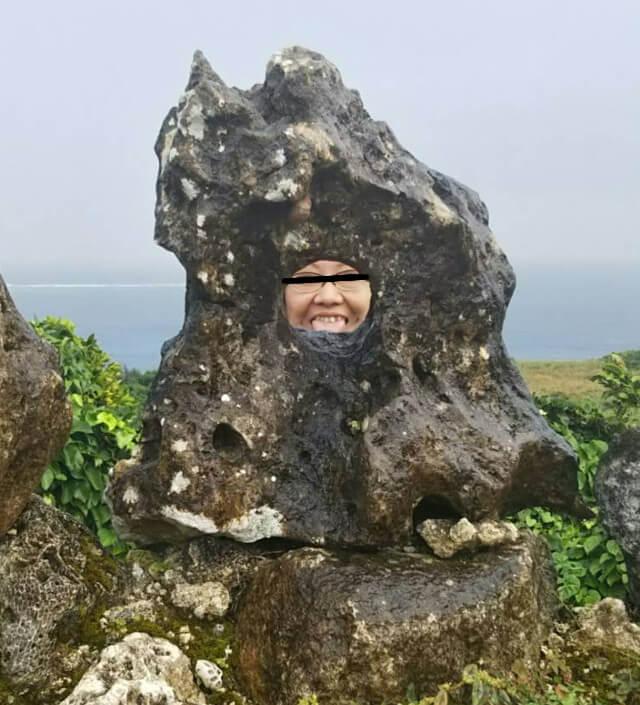 宮古島の天海山石庭で妖怪写真(1)