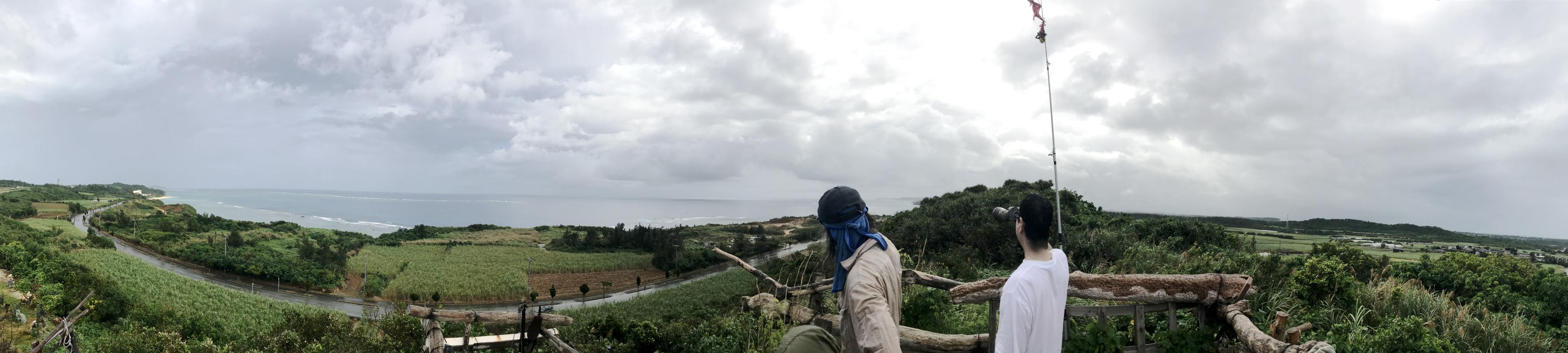 宮古島の天海山石庭のパノラマ写真