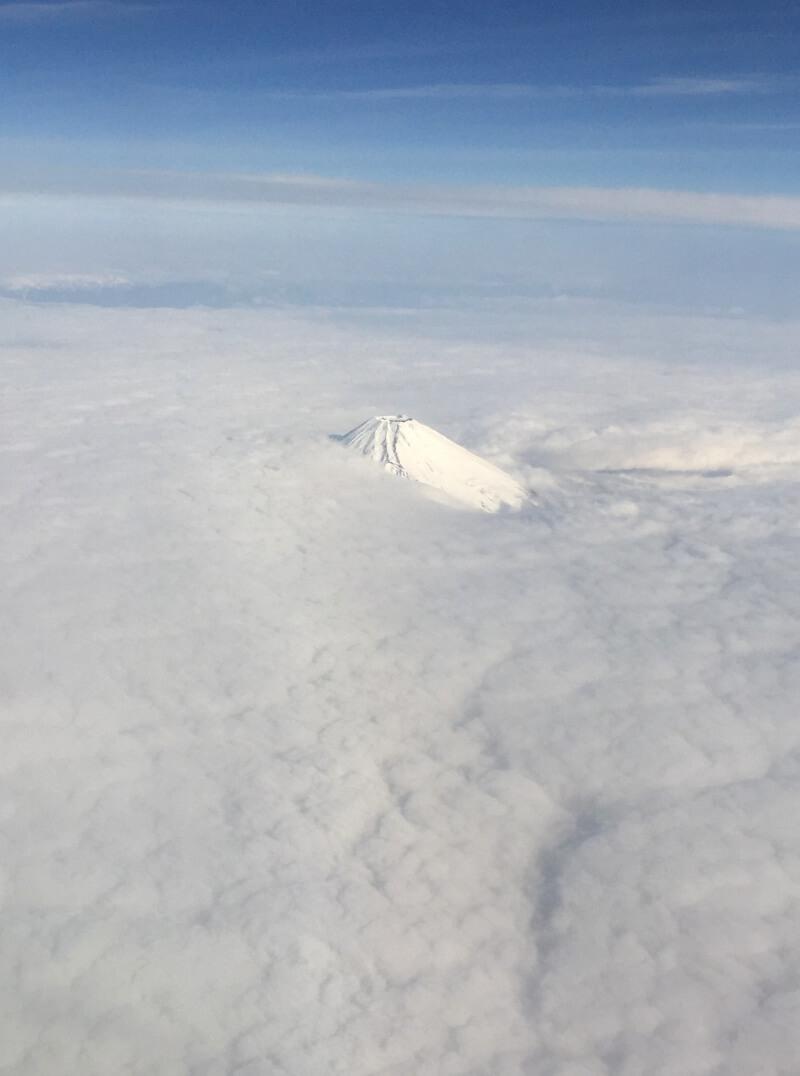 宮古島への直行便でハズレの日でも、富士山だけは見える
